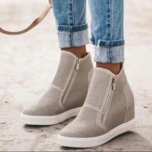 Light Gray Wedge Sneakers - New in Box